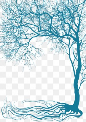 Vector Creative Plant Trees - Branch Tree Wall Decal Clip Art PNG