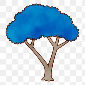Plant Electric Blue - Blue Turquoise Tree Electric Blue Plant PNG