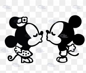 Mickey And Minnie Mouse Silhouette - Minnie Mouse Mickey Mouse MacBook Pro Decal PNG