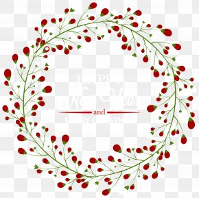 Download Christmas Wreath Free Images - Santa Claus Christmas Wreath Clip Art PNG