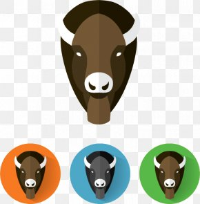 Bison Head - Cattle Water Buffalo American Bison Euclidean Vector PNG