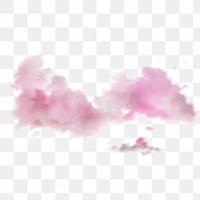 Pink Ink Clouds - Pink Cloud PNG