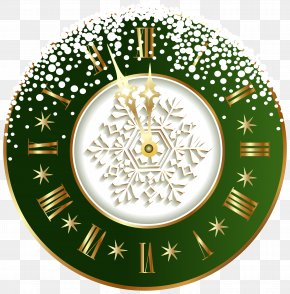 Green New Year Clock PNG Clipart Image - New Year's Day Clock Clip Art PNG