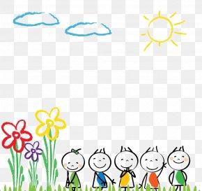 Cartoon Line Painting - Pre-school Child Kindergarten Illustration PNG
