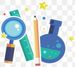 Magnifying Glass Flask Poster - Knowledge Scientist Euclidean Vector PNG