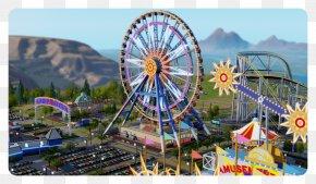 Ferris Wheel - SimCity Worlds Of Wonder Amusement Park Tourist Attraction PNG