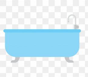 Vector Bathtub - Blue Brand Pattern PNG