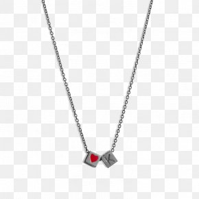 Necklace - Locket Necklace Chain Love Letter Jewellery PNG