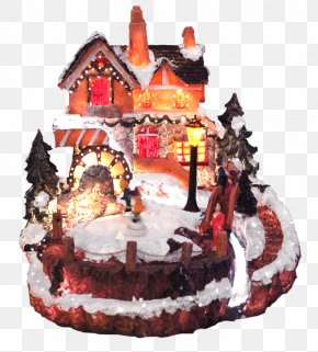 Christmas Town - Birthday Cake Chocolate Cake Gingerbread House Cake Decorating Christmas Ornament PNG
