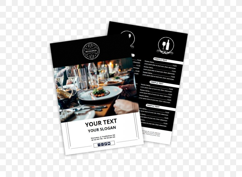 Restaurant Flyer Advertising Visiting Card Menu, PNG ...