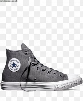Cute Navy Blue Shoes For Women - Chuck Taylor All-Stars Converse CT II Hi Black/ White Sports Shoes High-top PNG