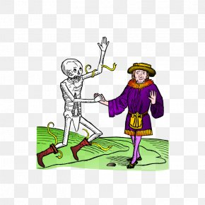 Dance Illustrations - Danse Macabre Dance Illustration PNG