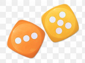 Orange Dice - Dice Game PNG