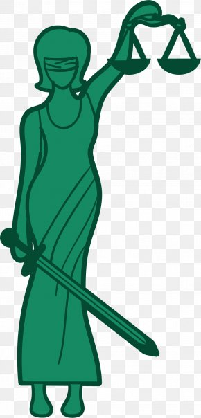 Green Greek Goddess - Lady Justice Themis Euclidean Vector Illustration PNG