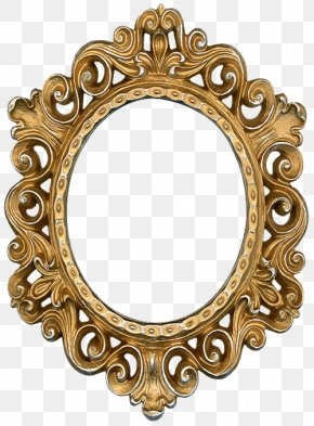 Delicate Gold Lace Border - Picture Frames Borders And Frames Clip Art PNG