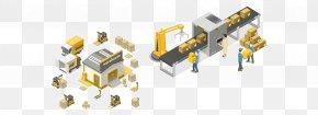 Logistics - Conveyor System Conveyor Belt Factory Logistics PNG