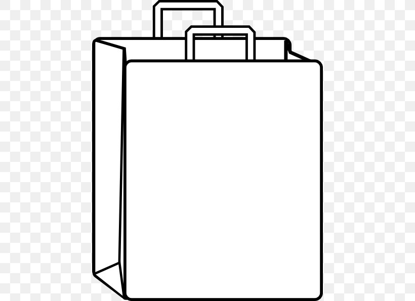 Shopping Bag Paper Bag Clip Art, PNG, 456x595px, Bag, Area, Bathroom Accessory, Black, Black And White Download Free