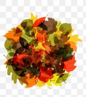Round Autumn Leaves - Autumn Leaf Euclidean Vector PNG