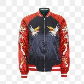 TOPSHOP Japanese And Korean Style Embroidered Satin Bomber Jacket - Flight Jacket Clothing Topshop Sleeve PNG