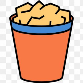 Popcorn - Paper Waste Container Icon PNG