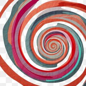Color Swirls - Spiral Euclidean Vector Graffiti PNG