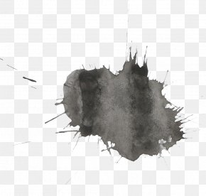 Watercolor Painting Paintbrush - Watercolor Painting Black And White Transparent Watercolor PNG