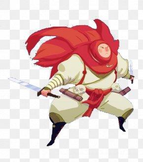 Game Who Set Red Scarf Shawl Samurai Knife - Scarf Red Shawl PNG