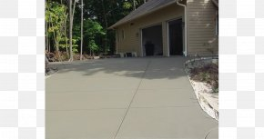 Concrete - Driveway Concrete House Land Lot Sidewalk PNG