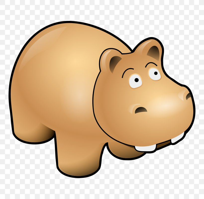 Hippopotamus Cartoon Clip Art, PNG, 800x800px, Hippopotamus, Animal, Bear, Blog, Carnivoran Download Free