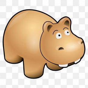 Free Spider Clipart - Hippopotamus Cartoon Clip Art PNG