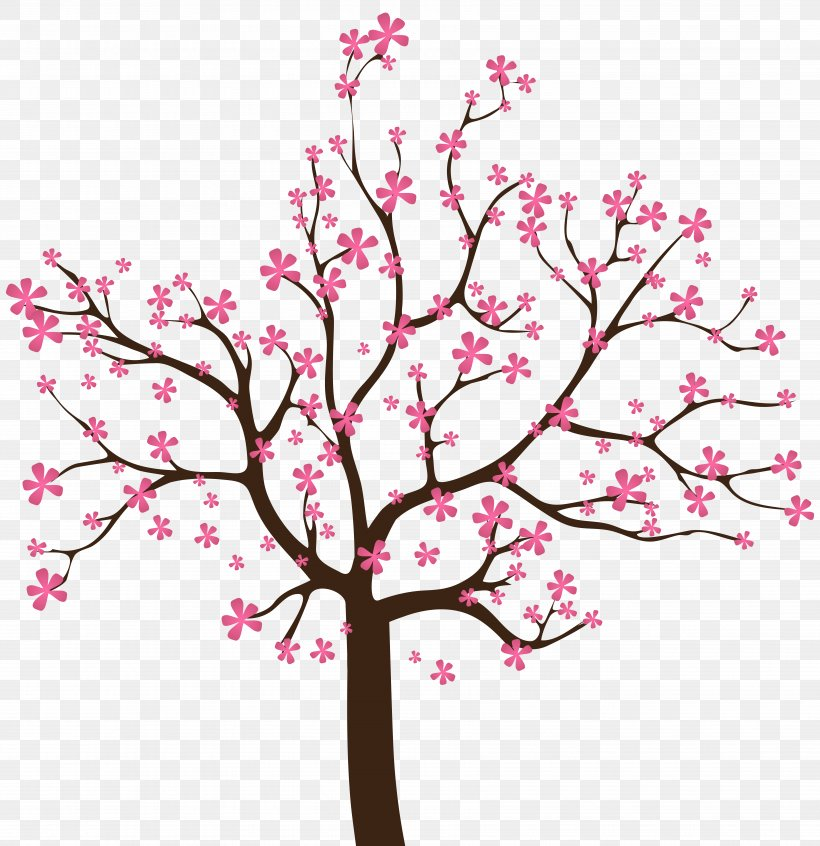 Spring Clip Art, PNG, 7012x7241px, Spring, Blossom, Branch, Cherry Blossom, Drawing Download Free
