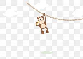 Vector Cartoon Monkey Material - Mammal Cartoon Illustration PNG