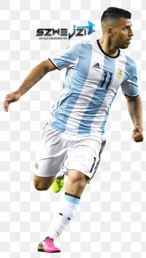 Football - Sergio Agüero Argentina National Football Team 2018 World Cup Manchester City F.C. Jersey PNG