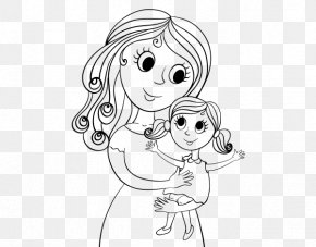 Child - Mother Drawing Daughter Child Coloring Book PNG