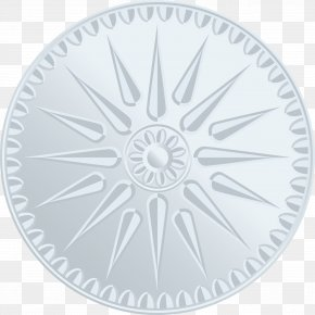 Vector Silver Coin - Architecture Clip Art PNG
