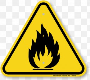 Hazard Sign Images - Hazard Symbol Warning Sign Safety Combustibility And Flammability PNG