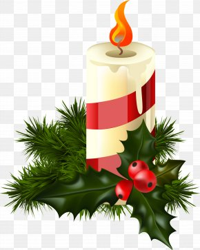 Christmas - Candle Old New Year Christmas Clip Art PNG