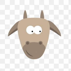 Grey Goat Head Pull Material Free - Goat Cartoon Animal PNG