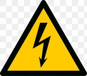 High Voltage - Electricity Hazard Symbol Safety Car PNG