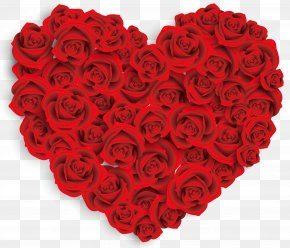 Heart-shaped Roses - Valentine's Day Valentine's Day Cruise Heart Rose Clip Art PNG