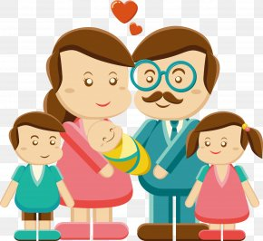 Vector Family Members - Father Family Mother Clip Art PNG