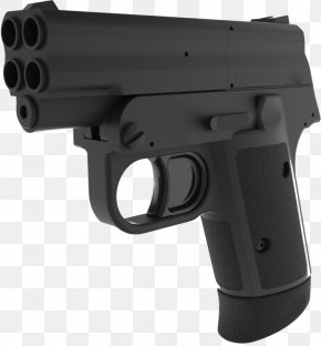 4 Barrel Pistol - Semi-automatic Pistol Firearm Gun Barrel Handgun PNG