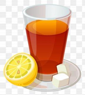 Cup Of Tea And Lemon Vector Clipart Picture - Tea Grog Cocktail Lemon-lime Drink PNG