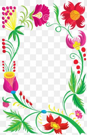 Cartoon Flower Frame - Flower Stock Photography PNG