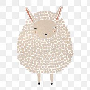 Cartoon Lamb - Sheep Paper Printing Poster Illustration PNG