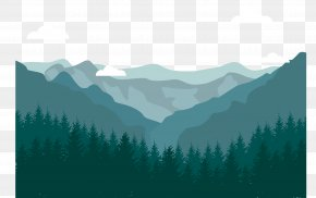 Vector Mountain Scenery - Squamish Euclidean Vector Mountain Landscape PNG