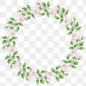 White Rose Border Frame Transparent Clip Art - Rose Clip Art PNG