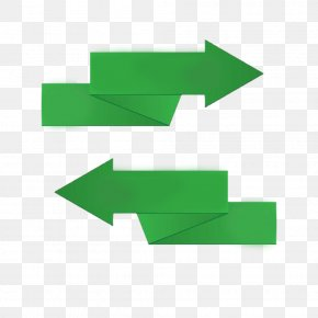 Origami Arrow Shaped Green Decorative Pattern PPT - Polygon Icon PNG