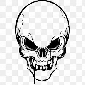 Skull - Vector Graphics Skull Clip Art Image Drawing PNG
