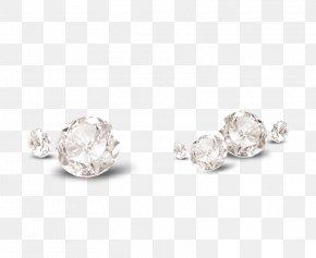 Crystal Diamond Decorative Patterns - Earring Diamond Gemstone Crystal PNG